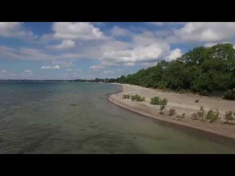 Aerial Footage Of Long Beach, (Conservation Area), Wainfleet, Ontario...