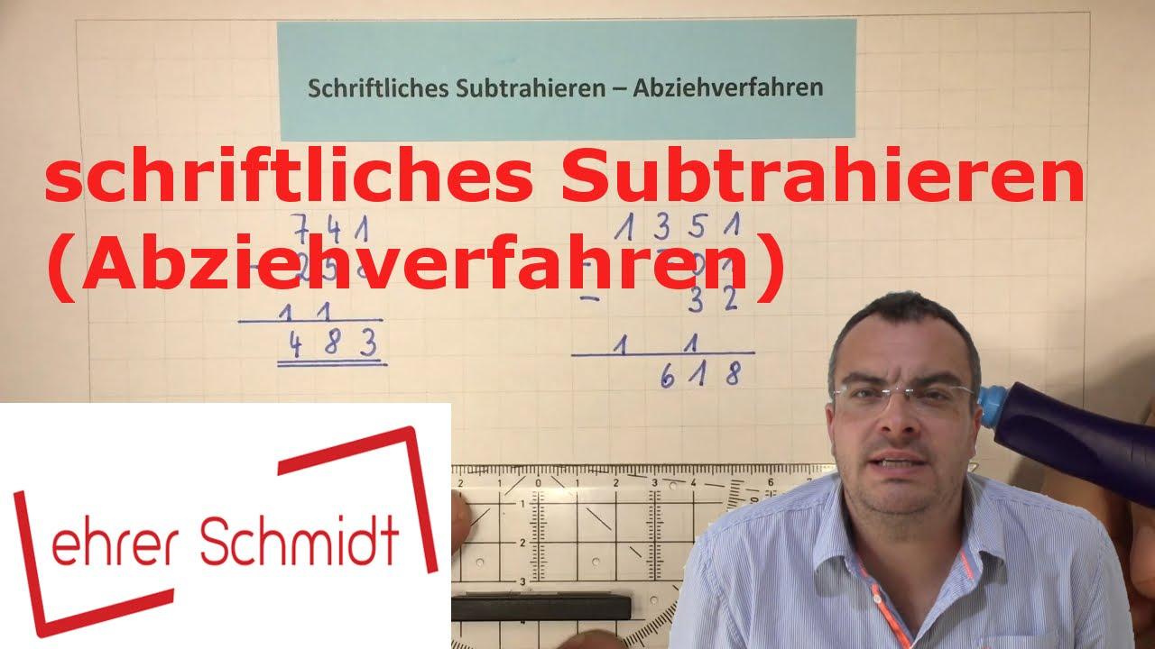 Schriftliches Subtrahieren mit dem Abziehverfahren (Durchstreichen ...