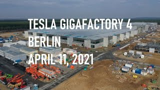 Tesla Gigafactory 4 Berlin | Casting facade preparations | April 11, 2021 | 4K Video