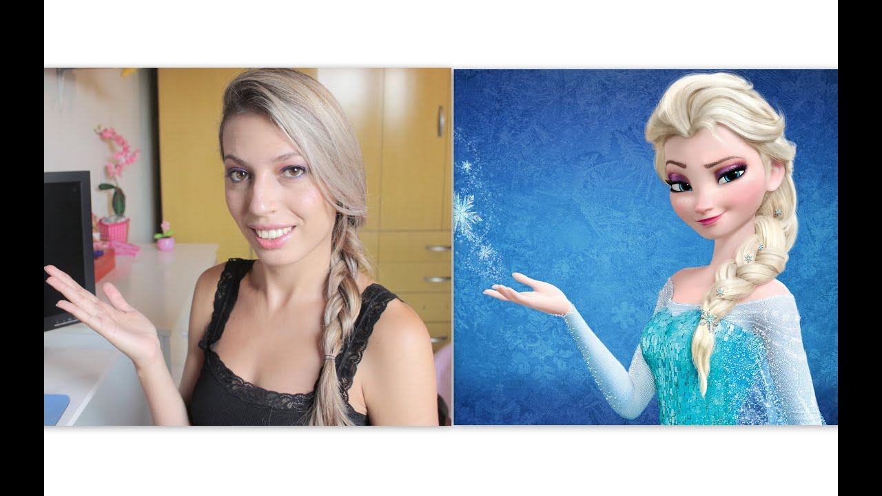 Elsa Saudades De Voces: Make Inspiração Da Princesa Elsa Do Filme