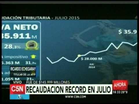 C5N - Economia: Recaudacion record en julio