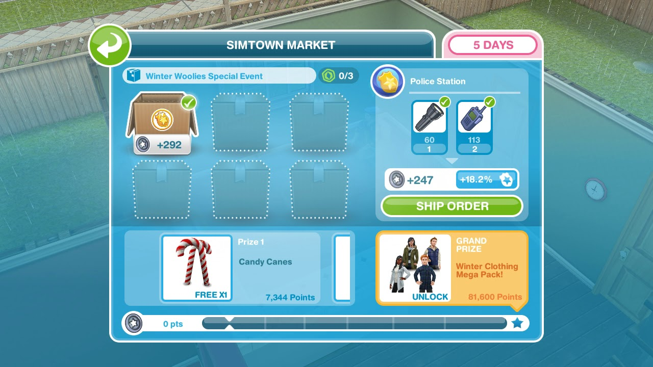 The Sims Freeplay - Simtown Market / Winter Woolies ...
