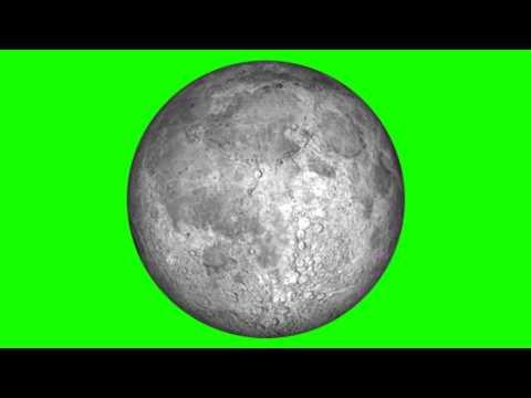 MOON Animation green screen free stock footage thumbnail