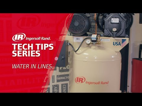 Water In Lines Troubleshooting | Ingersoll Rand Reciprocating Air Compressor