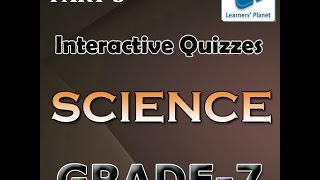 7th Class Science Ncert Interactive Quiz