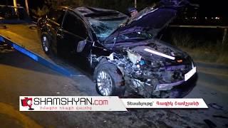 Խոշոր ավտովթար Երևանում  Դավիթ Բեկի պողոտայում բախվել են Mercedes ն ու Nissan ը