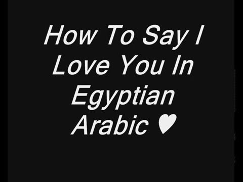 How ToSay I Love You In Egyptian Arabic