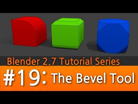 Blender 2.7 Tutorial #19 : The Bevel Tool #b3d