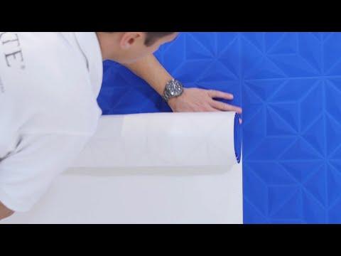 3D-Tapete tapezieren
