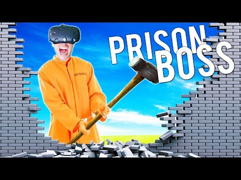 WE SMASHED OUR WAY OUT OF VR PRISON! ONTO A NEW, HARDER PRISON! - Prison Boss VR HTC VIVE Gameplay