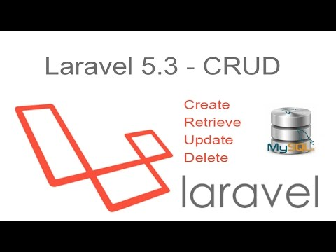 laravel 5 3 CRUD - Insert Edit Update and Delete