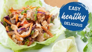 Slow Cooker Thai Chicken Lettuce Cups
