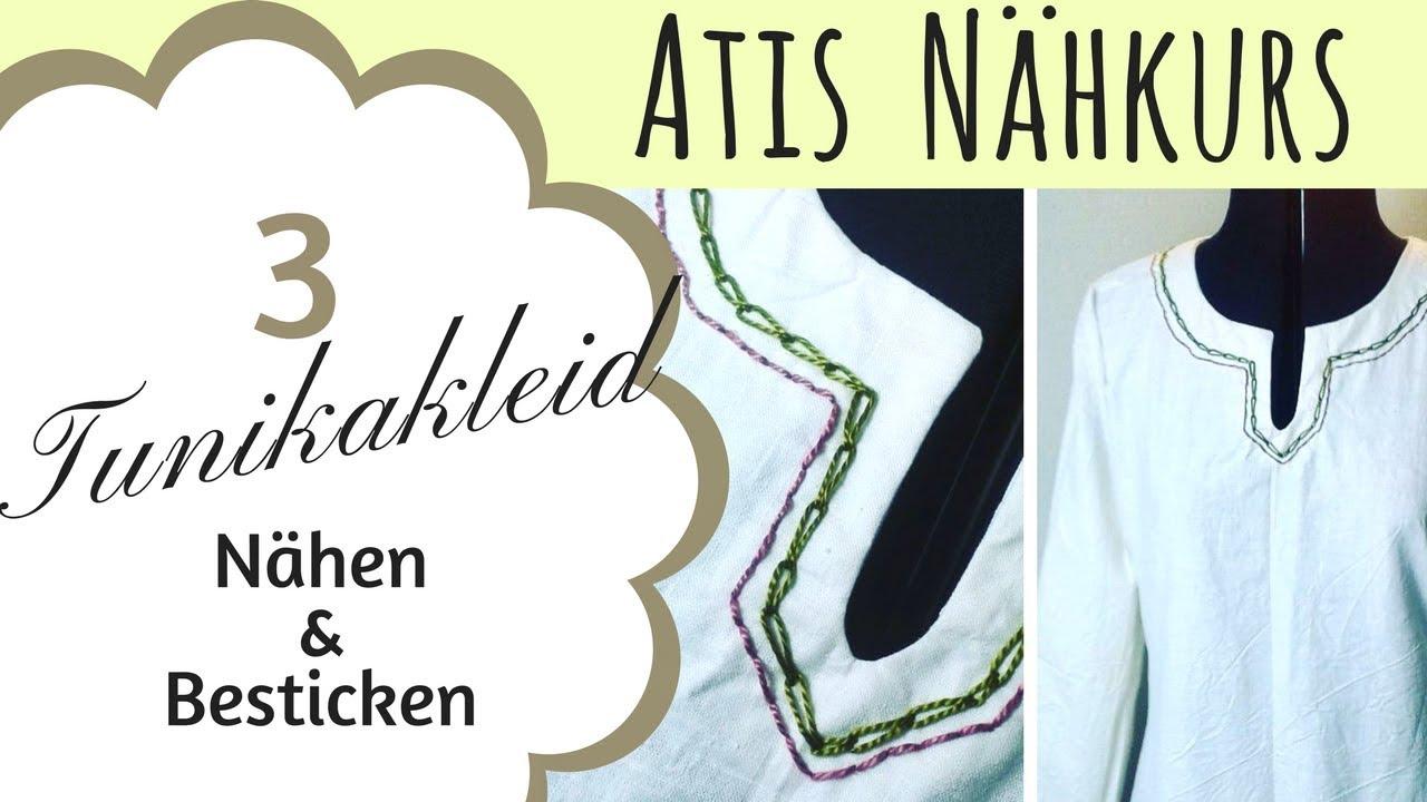 Tunika Kleid selbst nähen / Mittelalter / Gewandung / Atis Nähkurs ...