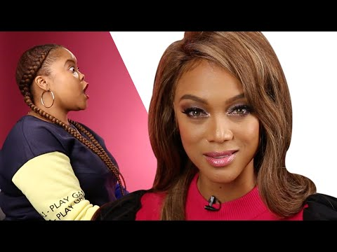 Surprise Staring Contest With Tyra Banks