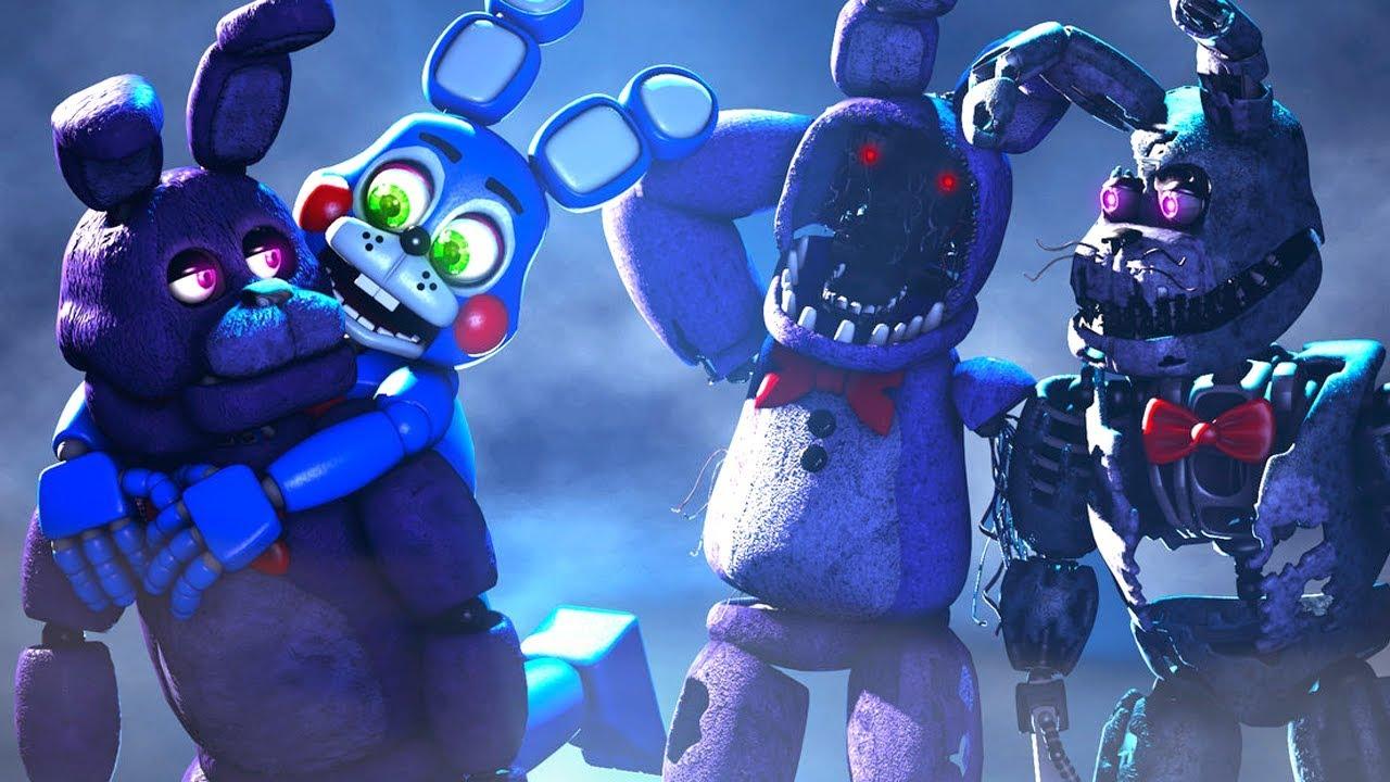 Five Nights At Freddy's Bonnie Animated toy bonnie hugs! five nights at freddy's animations compilation fnaf sfm