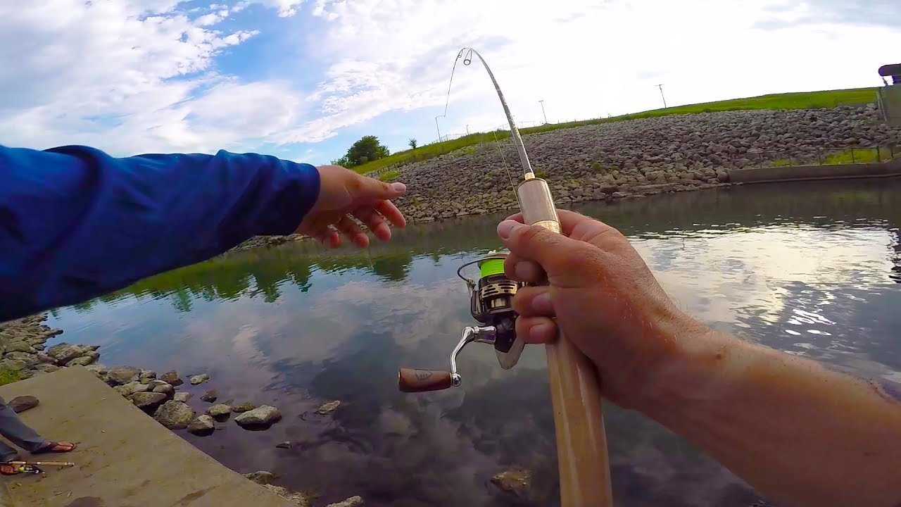 Using ultra light tackle for big fish youtube for Lunkerstv fishing rods
