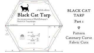 Black Cat Tarp: Part 1 Pattern, Catenary Curve & Fabric Cuts