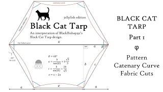 Black Cat Tarp: Part 1 Pattern, Catenary Curve & Fabric Cuts