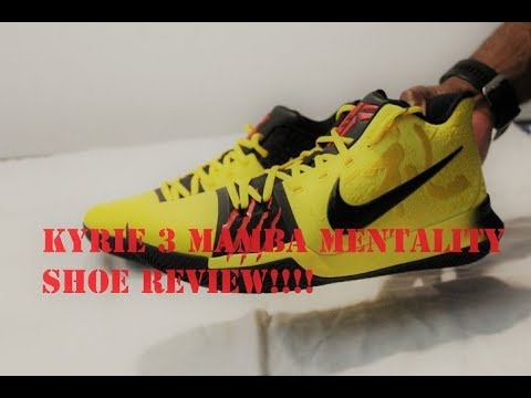 ceb30782b9c7 Kyrie 3 Mamba Mentality Shoe Review - YouTube