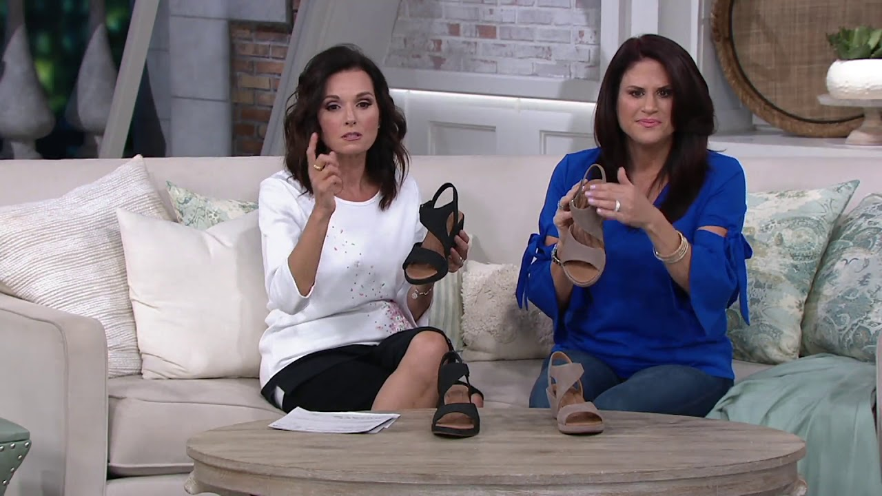 0958b7c1c74 Clarks UnStructured Leather Wedge Sandals - Un Plaza Sling on QVC ...