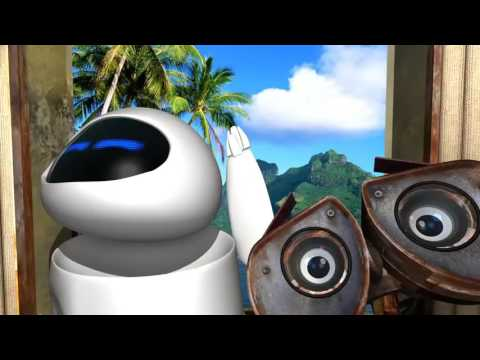 Мультфильм про еву и робота