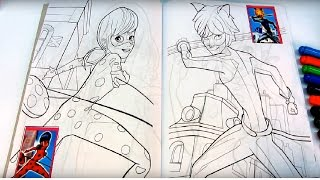 Miraculous Ladybug VS Cat Noir Coloring Book for kids | Marinette and Adrien Coloring Book for kids