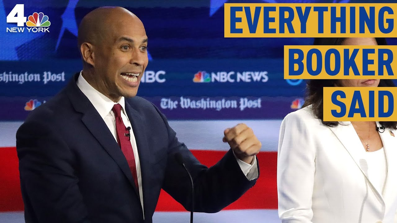 Here's what Cory Booker is doing as the other Democrats are debating