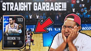 HE MISSED EVERY 3 POINT SHOT!!! 103 OVR JOURNEYMAN MASTER JJ REDICK IS GARBAGE!!! NBA LIVE MOBILE