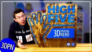 Making a HUGE HIGHFIVE SIGN with Matterhackers and Carbide3D