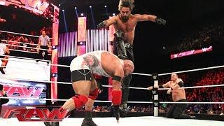 Ryback vs. Seth Rollins & Kane – 2-on-1 Handicap Match: Raw, January 5, 2015