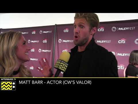 """Matt Barr talks CW's """"Valor"""" at PaleyFest 2017-AfterBuzzTV"""