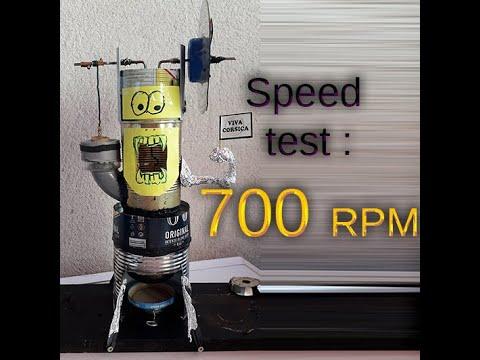 Test Vitesse : moteur stirling - YouTube