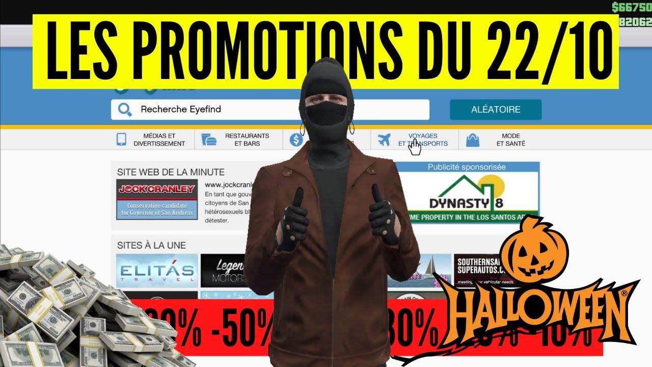 Promos & Bonus du 22 Octobre sur GTA Online + CONSEILS (Spécial Halloween)