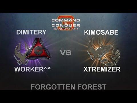 C&C3: Kane's Wrath 2vs2- Worker^^ (ZCM) & Dimitery (MoK) vs. Kimosabe (ZCM) & Xtremizer (ST)