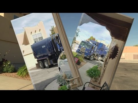 Homeowner: Garbage truck causes damage to Albuquerque home