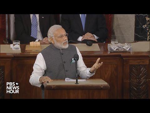 Indian Prime Minister Modi addresses Congress