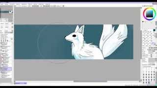 My Arctic Fox Logo Speed Draw and paint!