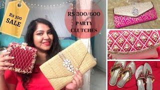 koti Sultan Bazar   Party clutches for 300   Hyderabad Shopping