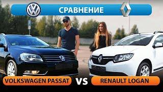 Сравнительный обзор Renault Logan и Volkswagen Passat 2.5 из США // Авто из США