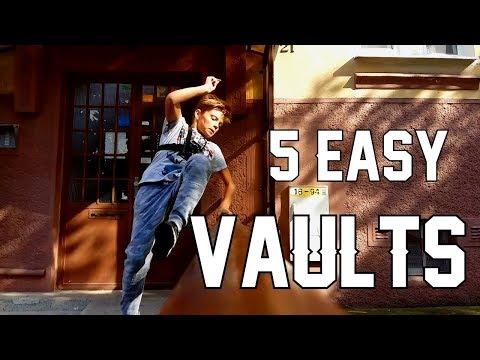 5 EASY VAULTS | PARKOUR [SlowMo]