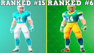 "RANKING EVERY ""NFL TEAM SKIN"" FROM WORST TO BEST! 