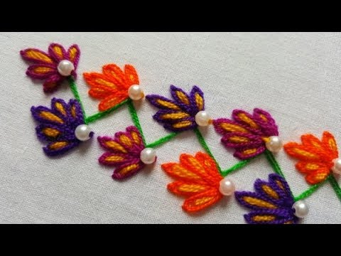 Hand Embroidery/ Very Simple Border Design By Stitch BD Network