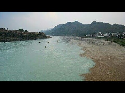 Indus river meeting with Kabul river Attock river,Pakistan part 2