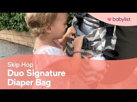 Skip Hop Duo Signature Diaper Bag Review - Babylist