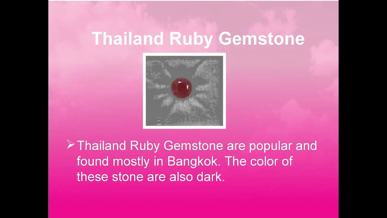 What are Different Types Of Ruby Stone - YouTube