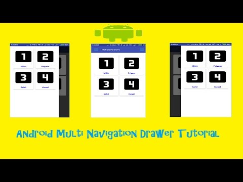 Android Navigation Drawer Tutorial Both Left to Right and Right to Left