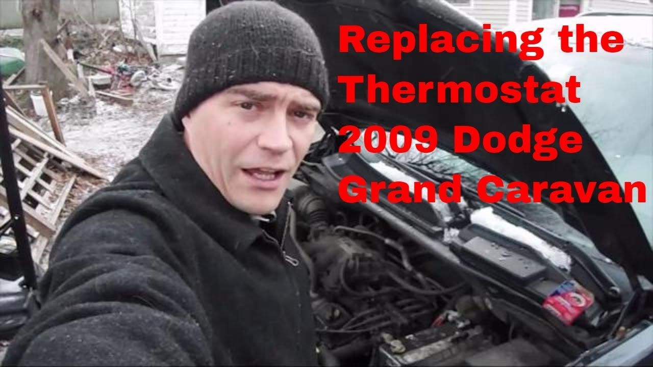 caravan dodge thermostat grand replacement 2009