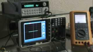 #6: Osciloscopio y generador de señales firmas graficas checar condensador diodo resistor .MPG