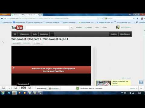 How to fix problem with playing adobe flash player movies on youtube