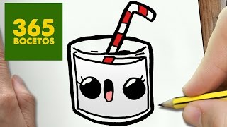COMO DIBUJAR LECHE KAWAII PASO A PASO - Dibujos kawaii faciles - How to draw a MILK